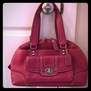 Coach Leather Satchel w/Turnkey front